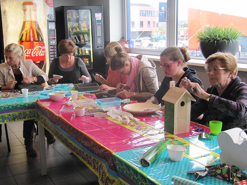 Taupe Tegels Badkamer ~ Witte Keuken Pimpen Paint tile backsplash Http  www mijnalbum nl